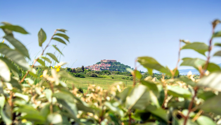potenza: Panoramic view of Lagopesole. Basilicata, Italy Editorial
