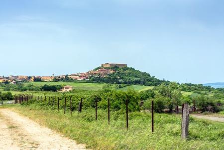 lucania: Panoramic view of Lagopesole. Basilicata, Italy Editorial