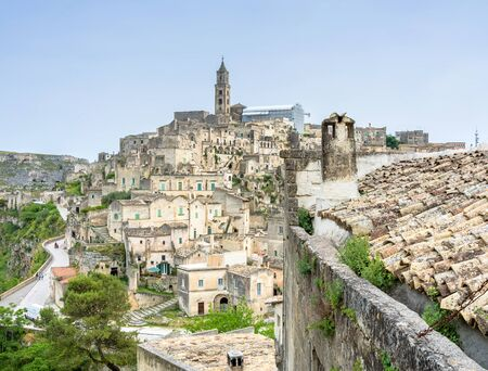unesco culture heritage: MATERA, ITALY - MAY 15, 2015: day view of Sassi di Matera ancient town in Matera, Italy. The city is a UNESCO World Heritage site and European Capital of Culture for 2019.