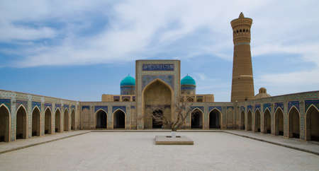 poi: Miri Arab Khan Madrassah & Poi Kalon Mosque Complex in Bukhara, Republic of Uzbekistan