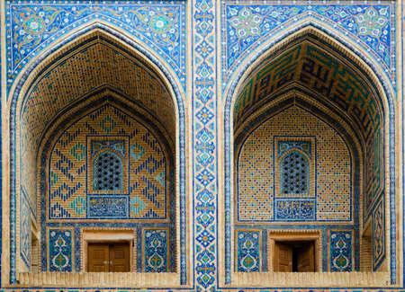 uzbekistan: Ulugh Beg Madrassah in Registan Ensemble. Samarkand, Uzbekistan