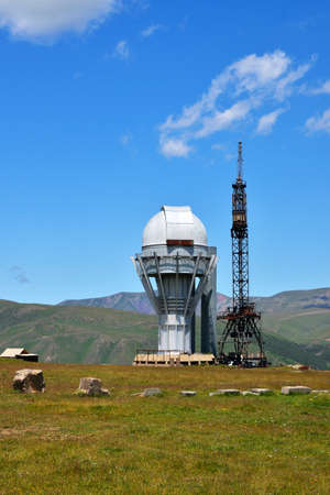 observational: Observatory in high-altitude Asy Plateau. Kazakhstan. Editorial