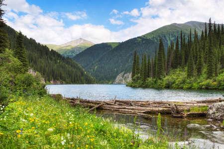 kazakhstan: Kolsay Lake in Tien Shan mountain system. Kazakhstan