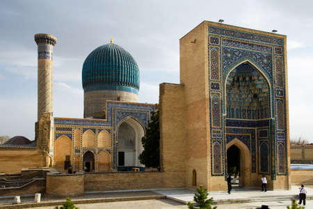 conqueror: Gur-e Amir Mausoleum in Samarqang, the Place where Conqueror Tamerlang was buried