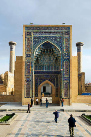 Gur-e Amir Mausoleum in Samarqang, the Place where Conqueror Tamerlang was buried Stock Photo - 16376996