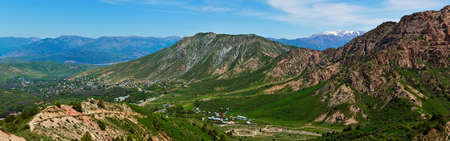 smaller: Panoramic View of the Smaller Chimgan in Uzbekistan. Central Asia. Tian Shan mountain system