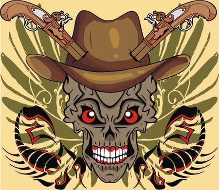 skull hat Ilustração