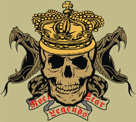 skull and crown: king skull