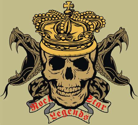 Koning schedel Stockfoto - 8118922