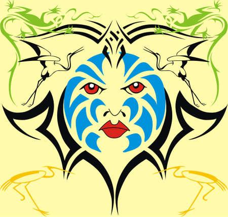Triball tattoo Stockfoto - 8188232