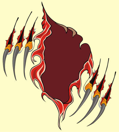 Claws scratches vector Stock Vector - 20362468