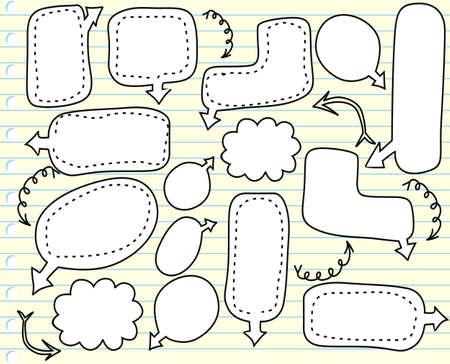 speak bubble: sketchy bubble speech
