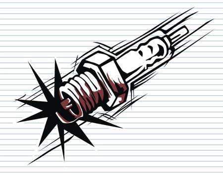 sparking: sparking plug