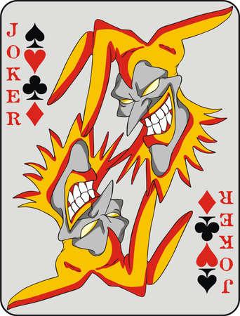 texas hold'em: Joker card background