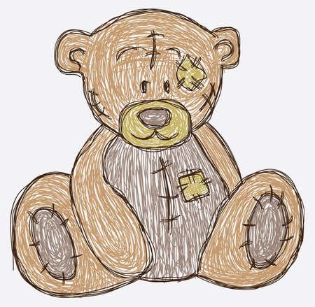 Skizzieren niedlichen Bären Standard-Bild - 26134535