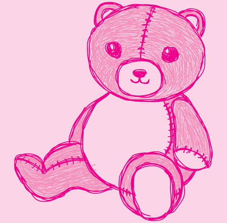sketch cute bear Stock Illustratie