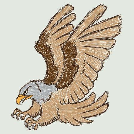 Eagle Sketch Stock Illustratie