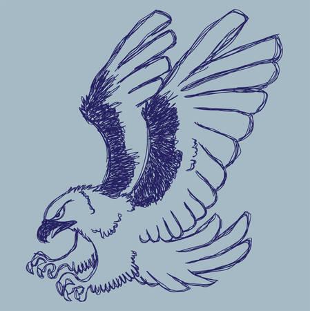 Schets van Eagle Stockfoto - 26134585