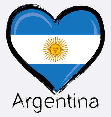 love Argentine grunge flag