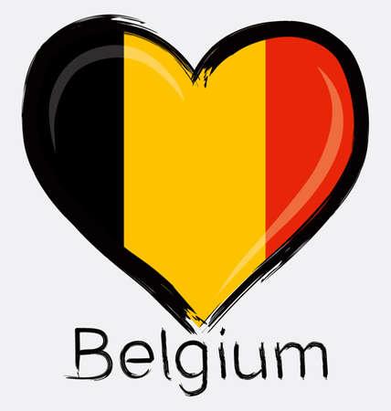 love Grunge of belgium flag