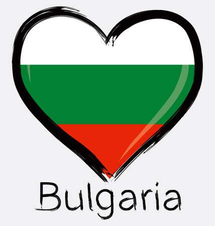 Liebe bulgarische Flagge Standard-Bild - 32561190
