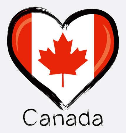 love Canada flag Ilustração