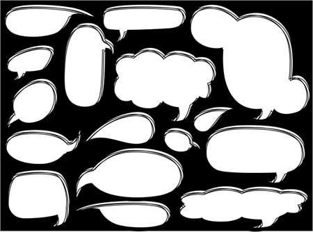 Skizzenhaften Blase Rede Standard-Bild - 32624602
