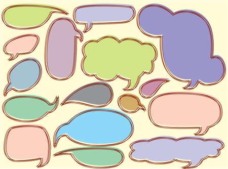 Schetsmatig bubble speech Stockfoto - 32624612