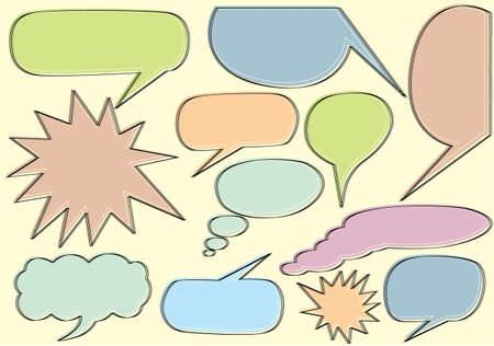 Schetsmatig bubble speech Stockfoto - 32624555