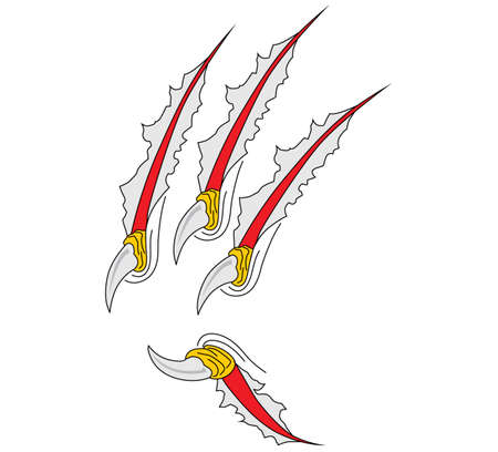 laceration: Claws scratches vector Illustration