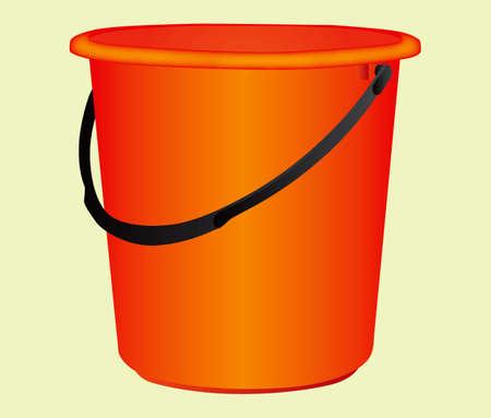illustrations bucket with in paper Stock Illustratie