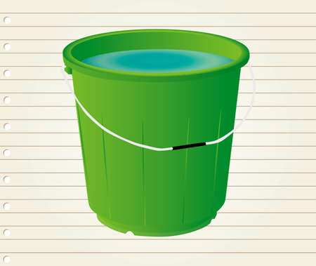 drudgery: illustrations bucket with in paper Illustration