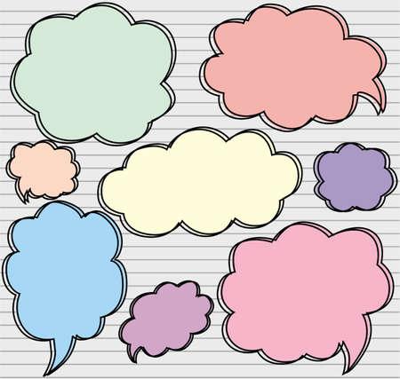 illustration bubble speech