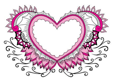 deciration pink love Stock Illustratie