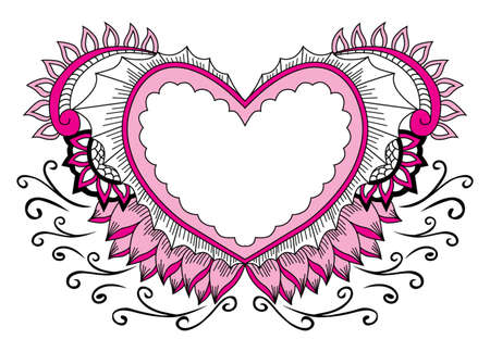 deciration pink love Ilustração