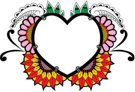 decoration flower love Ilustração