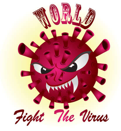 illustration icon virus Stock Illustratie