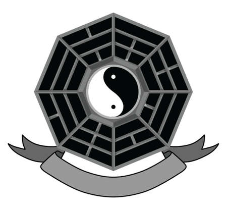 china symbol black yin yang Stock Illustratie
