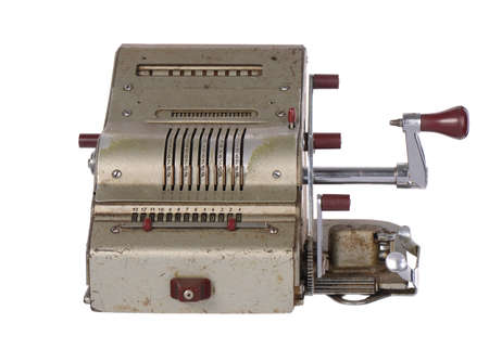 meta: the old adding machine antique calculator meta mechanism