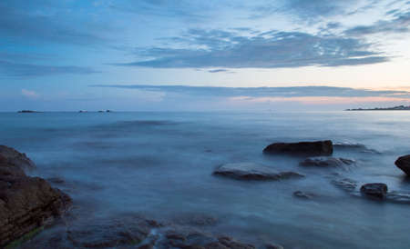 brittany: Long Exposure along the Brittany coastline. Stock Photo