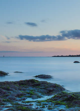 long exposure: Long Exposure along the Brittany coastline. Stock Photo