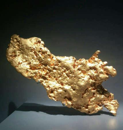 shiny metal: Gold minerals
