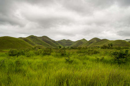African hills in Congo, Mountain of the Moon.