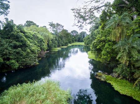 Blue River  Tulu river  Niari river Congo Stock Photo