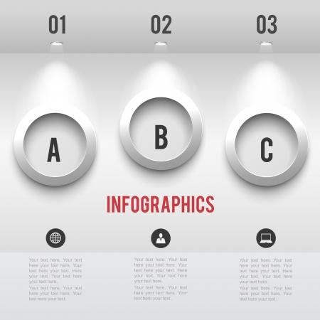할로겐: 종이 할로겐 램프 벡터 그래픽 비즈니스 현대 서식 벽에 그림자와 인포 그래픽 요소