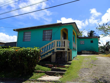 beautiful colorful house in Barbados