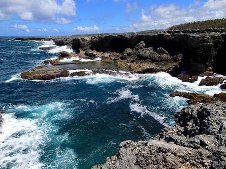 Barbados with beautiful steep coast - Caribbean