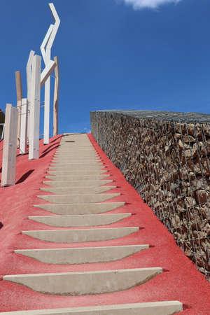 Red stairway to heaven - Heilbronn Germany