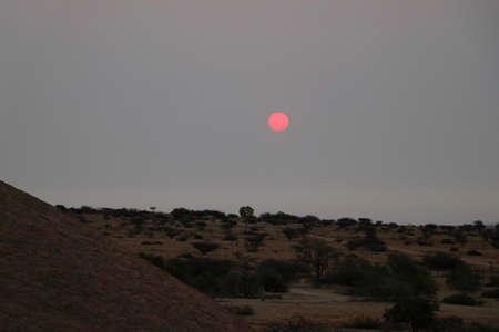 Beautiful sunset - Namibia Africa Фото со стока