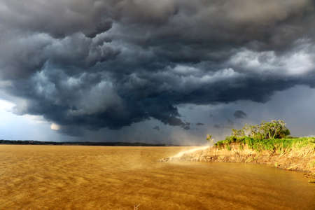Thunderstorm on the Amazon River - Amazon, Brazil